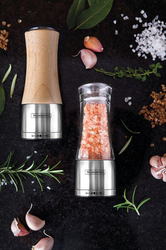 Moedor Aço Inox e Bambu Para Sal E Pimenta Tramontina