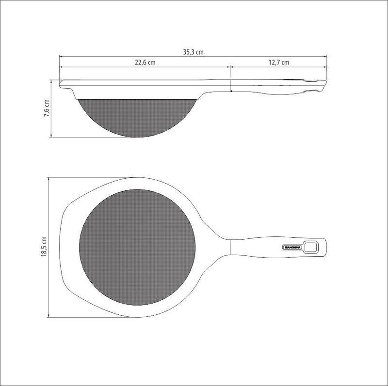 Peneira Inox 17 cm Verano Onix Tramontina