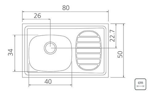 Pia de Apoio Tramontina Filo em Aço Inox 80x50 cm