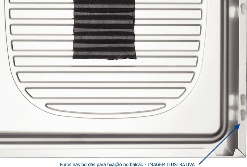 Pia de Apoio Tramontina Stratta em Aço Inox 120x50cm 2 Cubas