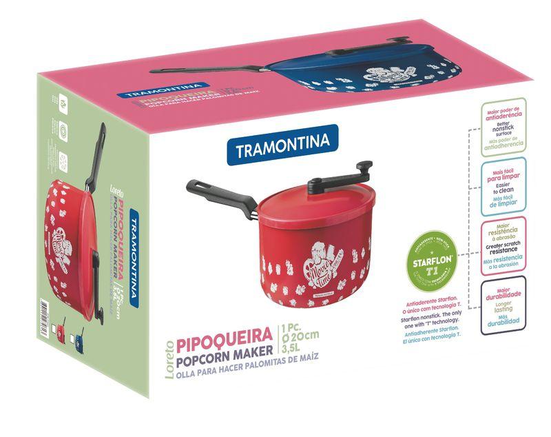 Pipoqueira Alumínio 20 cm 3,5 L Loreto Vermelha Tramontina