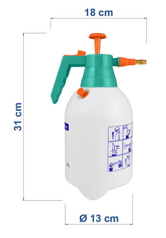 Pulverizador Compressão Prévia 2,0 Litros  Tramontina