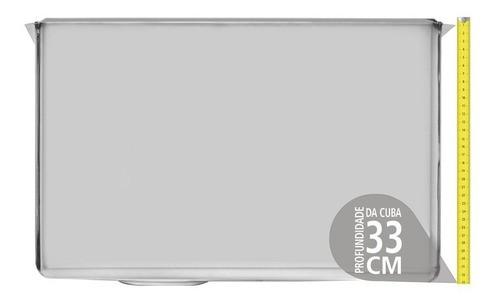 Tanque de Embutir Tramontina Jumbo em Aço Inox 60x50 cm