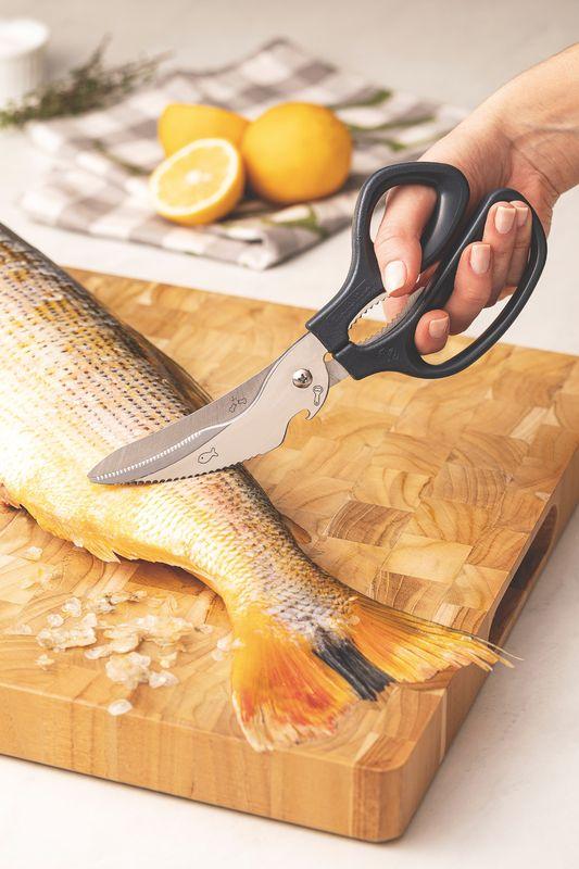 """Tesoura Cozinha Inox 8"""" Supercort Onix Tramontina"""