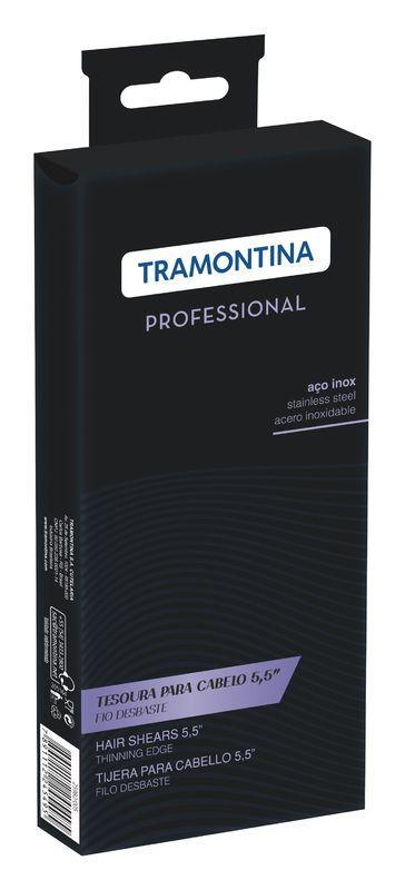"Tesoura Inox 5,5"" Desbaste Tramontina"