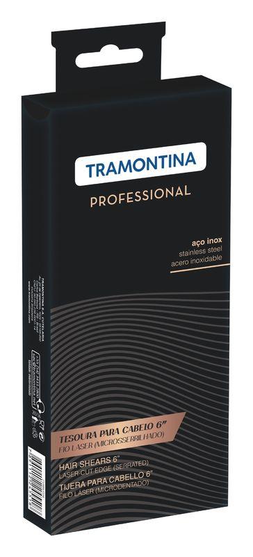 "Tesoura Inox 6"" Fio Laser Microsserrilhado Tramontina"