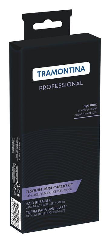 "Tesoura Inox Fio Laser 6"" Microsserrilhado Tramontina"