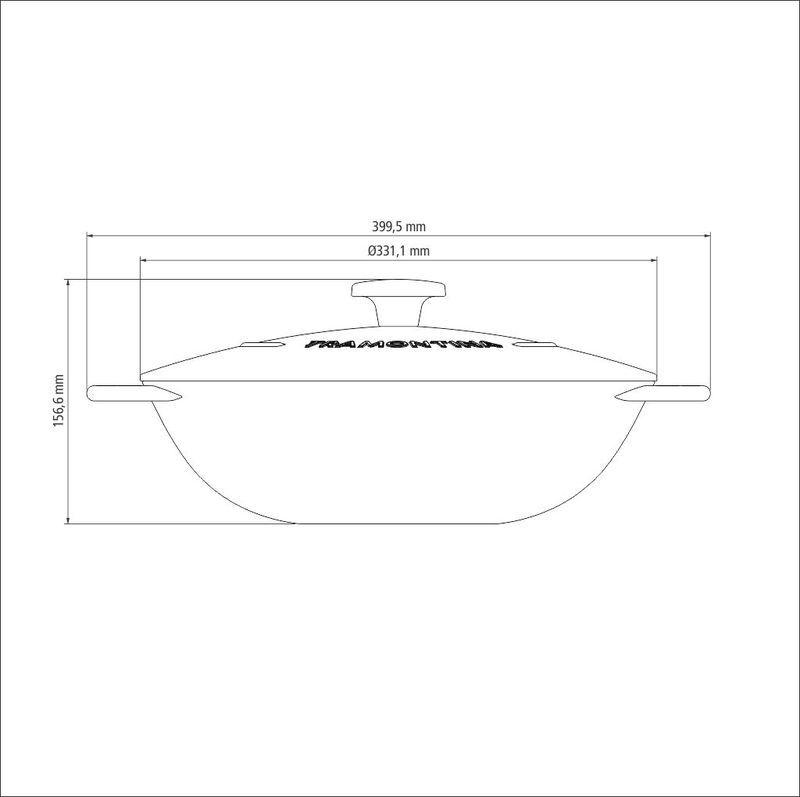 Wok Ferro 32 cm Trento Preta Tramontina