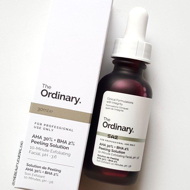 AHA 30% + BHA 2% Peeling Solution - The Ordinary