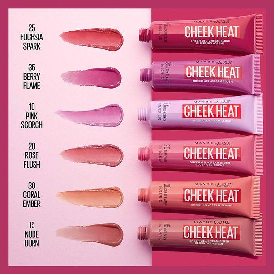 Blush Cremoso Cheek Heat - Maybelline