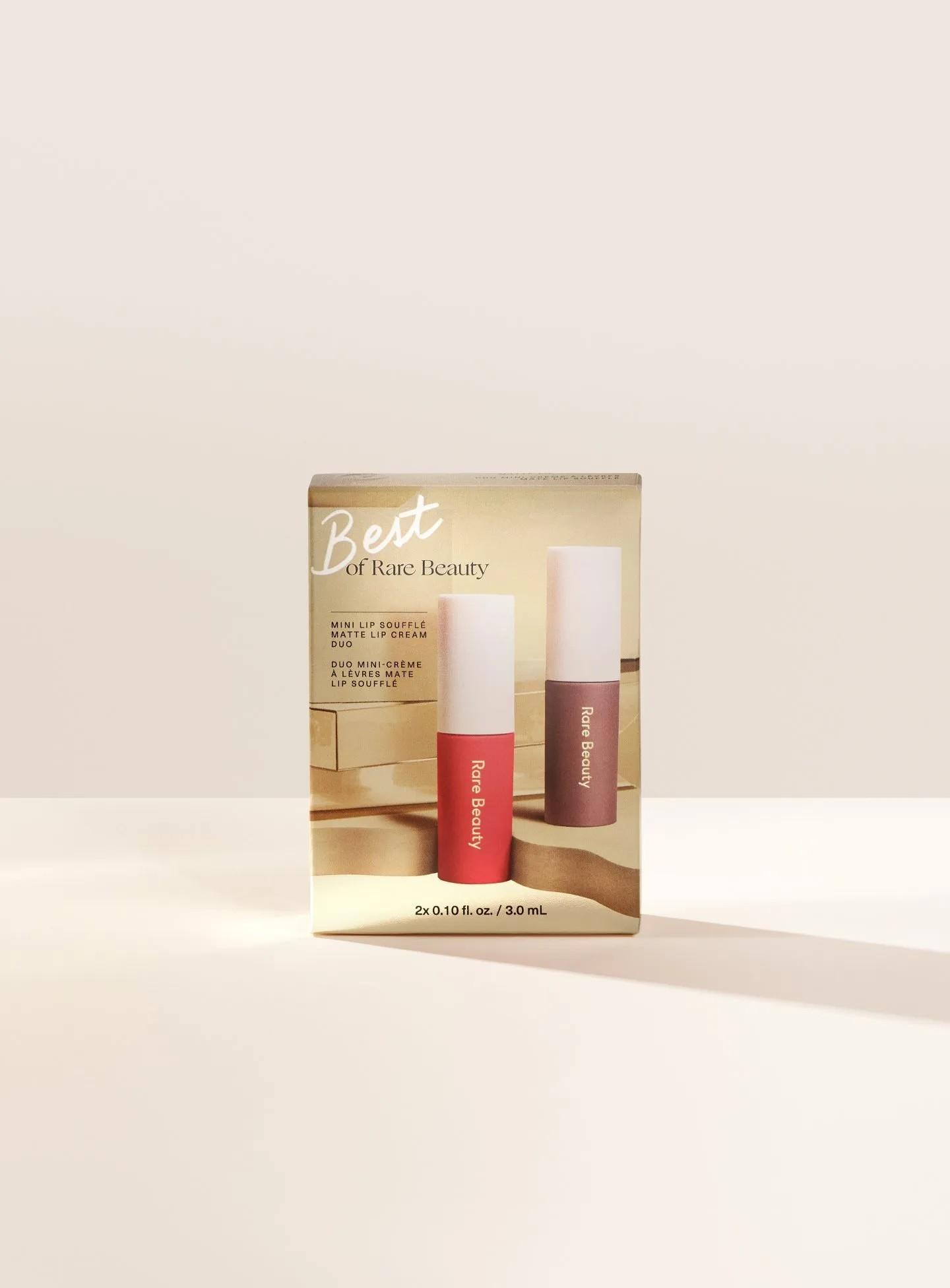 Kit Mini Lip Soufflé Matte Lip Cream Duo - Rare Beauty