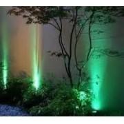 KIT 15 ESPETOS DE LED 7W PARA JARDIM - LUZ VERDE - BIVOLT