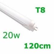 KIT 25 LÂMPADAS DE LED T8 TUBULAR VIDRO 20W 120CM BRANCO FRIO 6500K COM SELO INMETRO LEITOSA