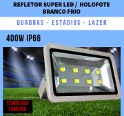 KIT 2 REFLETOR 400W SUPER LED BIVOLT BRANCO FRIO 8 CHIPS EGG YOLK (TECNOLOGIA SAMSUNG)