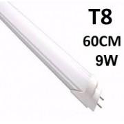 KIT 30 LÂMPADAS DE LED TUBULAR T8 9W 60CM BRANCO FRIO 6500K LEITOSA