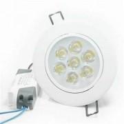 Kit 35 Spot LED 7W Cob Quadrado Branco Frio Embutir Direcionável Branco Frio