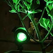 KIT 5 ESPETOS DE LED 5W PARA JARDIM - LUZ VERDE - BIVOLT