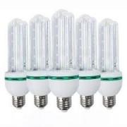 Kit 5 Lâmpadas de Led 3U 24w Milho Frio Bi-Volt Econômica