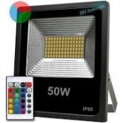 Kit 6 Refletores Holofote Micro Led 50w Smd Rgb Colorido Bivolt