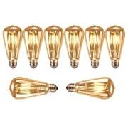 Kit 8 Lâmpadas 4w St58/e27 - Bulbo - Filamento De Carbono