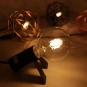 Kit com 10 Lâmpadas Filamento Vintage em LED 8w G80 Vidro Âmbar E27 Retrô - Bivolt