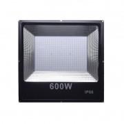KIT COM 10 REFLETORES DE LED 600W BRANCO FRIO 6500K IP66 RESISTENTE A ÁGUA