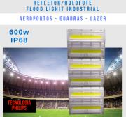 KIT COM 20 REFLETOR FLOOD LIGHT MODELO 2019 600W