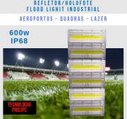 KIT COM 30 REFLETOR FLOOD LIGHTB 600W MODELO 2019