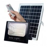 KIT COM 5 Refletor SMD Holofote Solar Ultra Led 40w Real Slim / Com controle Remoto