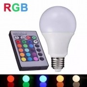 Lâmpada de LED BULBO E27 RGBW 5W com Controle Multifunções