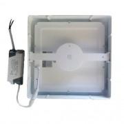 Luminária Painel Plafon Led Branco Frio Quadrado Sobrepor - 24w - 6500k