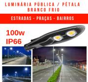 LUMINÁRIA PÚBLICA DE LED PARA POSTE 100W BRANCO FRIO (CHIPS PHILIPS) DOIS CHIPS