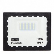Mini Refletor Holofote LED SMD 10W Branco Frio IP67