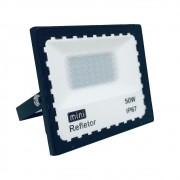 Mini Refletor Holofote LED SMD 50W Branco Frio IP67