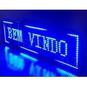 Painel De Led Letreiro Digital Indoor Azul 200x40