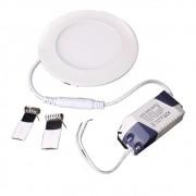 Plafon LED Luminária Redondo Embutir 6w 12x12 Branco Frio 6000k