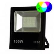 Refletor Holofote Micro Led 100w Smd Rgb Colorido Bivolt