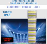 REFLETOR INDUSTRIAL MODELO 2019 FLOOD LIGHT 1000W CINCO MÓDULOS NUMBER THREE