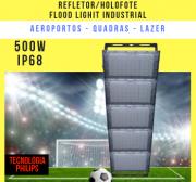 REFLETOR INDUSTRIAL MODELO 2019 FLOOD LIGHT (TECNOLOGIA PHILIPS) 500W CINCO MÓDULOS NUMBER TWO