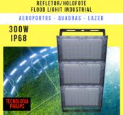 REFLETOR LED MODELO 2019 FLOOD LIGHT 600W IP68 TRÊS MÓDULOS NUMBER THREE