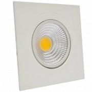 Spot Led 9w Quadrado Branco Frio Direcionável Bivolt