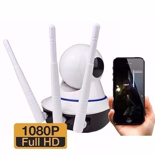IP Câmera Wifi 3 Antenas UltraHD 1080p - Infravermelho/Noturna (Tecnologia Samsung)