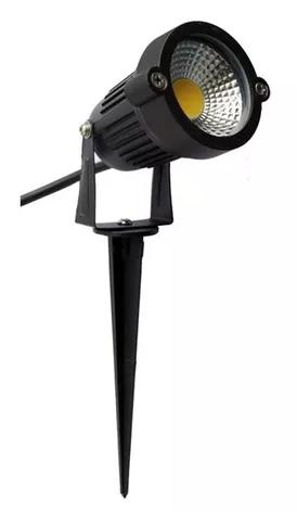 KIT 10 ESPETOS DE LED 5W PARA JARDIM - LUZ BRANCO QUENTE - BIVOLT