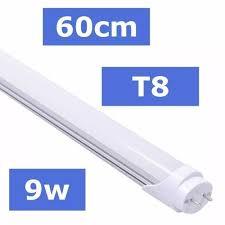 KIT 10 LÂMPADAS DE LED TUBULAR T8 9W 60CM BRANCO FRIO 6500K LEITOSA