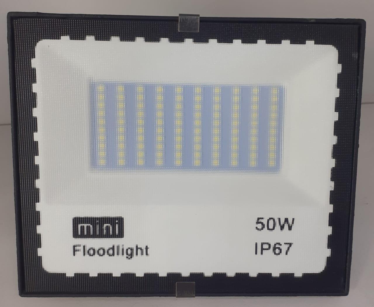 Kit 10 Mini Refletores Holofote JORTAN LED SMD 50W Branco Frio IP67