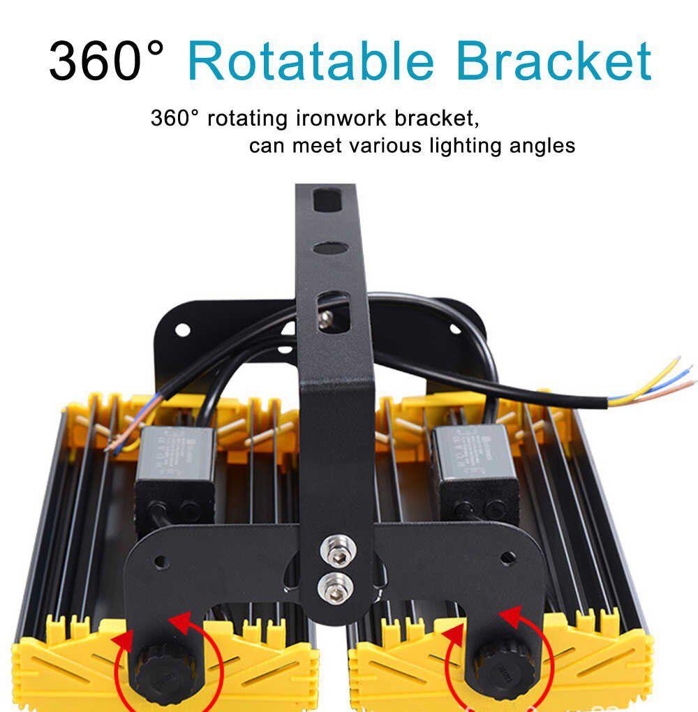 KIT 10 REFLETORES LED MODELO 2020 FLOOD LIGHT 200W IP68 UM MÓDULO NUMBER THREE