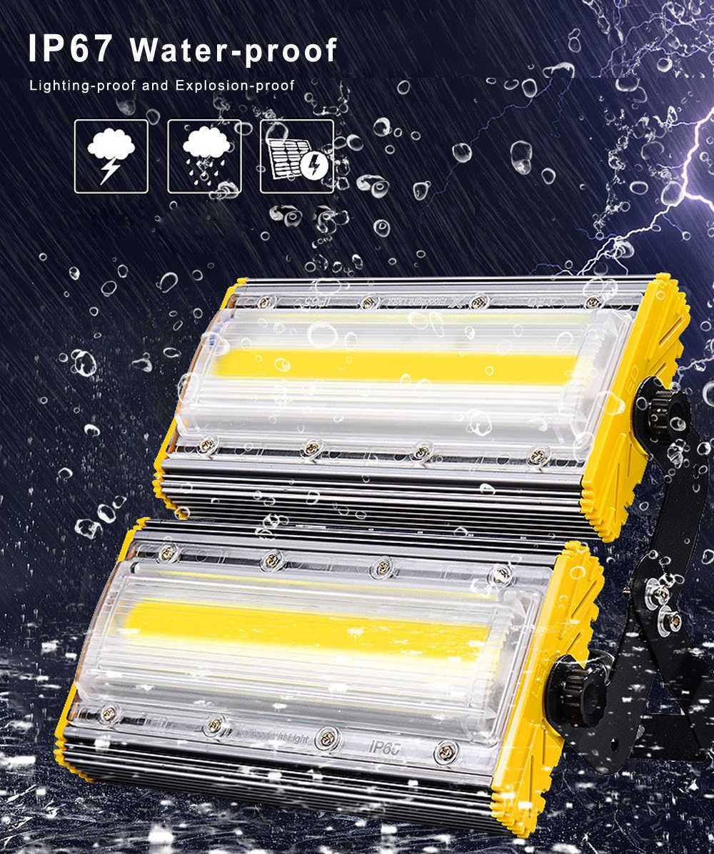 KIT 14 REFLETORES LED MODELO 2019 FLOOD LIGHT 200W IP68 UM MÓDULO NUMBER THREE