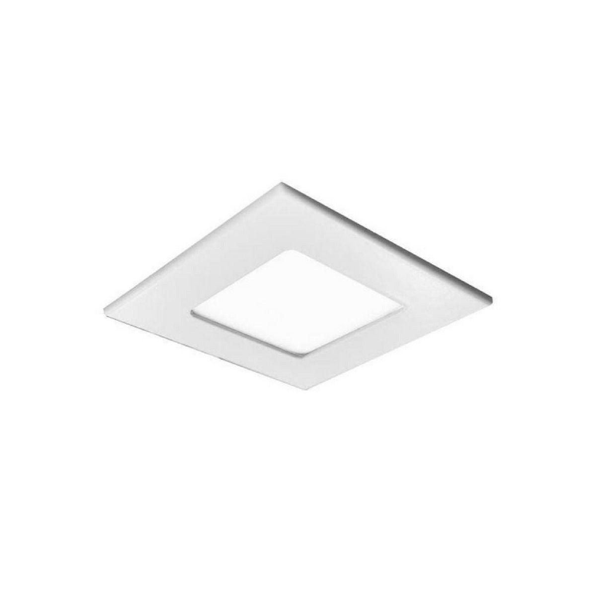 KIT 15 PLAFON LED EMBUTIR QUADRADO 6W 12X12CM BIVOLT