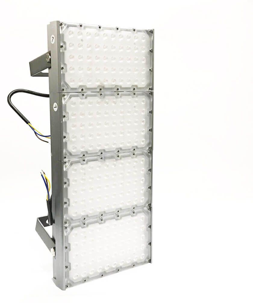 KIT 15 REFLETOR LED MODELO 2020 FLOOD LIGHT 400W IP68 QUATRO MÓDULOS NUMBER THREE
