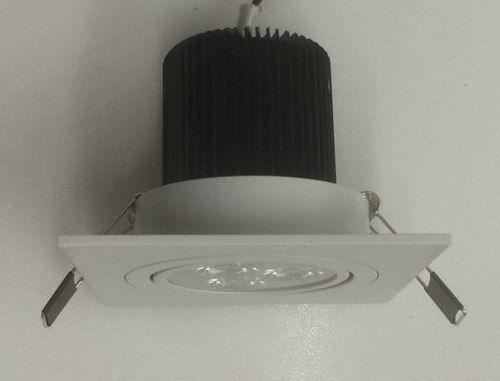 Kit 15 Spot Led 9w Quadrado Branco Frio Direcionável Bivolt
